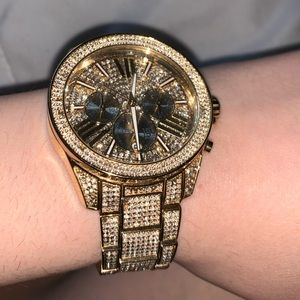 Michael Kors gold/crystal watch
